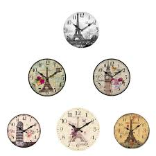 Retro Kitchen Wall Clocks Vintage Rustic Wooden Wall Clock Antique Shabby Chic Retro Home