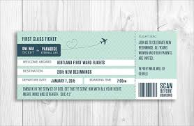Free Boarding Pass Invitation Template - Template