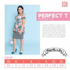 37 Rational Lularoe Perfect T Sizing Chart