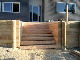 building deck stairs on uneven ground landscape design