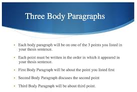 language arts mr mcginty the writing performance task the  the first component of a body paragraph is the topic sentence which tells your reader what your paragraph will be about if you re writing a multi paragraph
