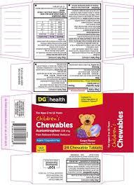 Children S Chewable Tylenol Dosage Chart Dollar General 44 449 Childrens Chewables Delisted