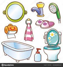 cartoon bathroom accessories stock vector