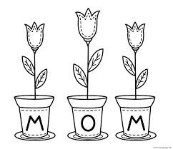Printable mothers day heart flower. Mothers Day Flowers For Kids Coloring Pages Printable