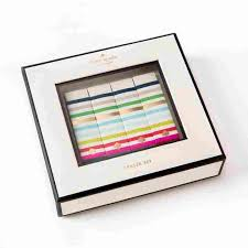 candy stripe eraser set by kate spade new york front view of eraser front view of eraser set