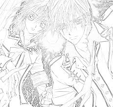 Small Picture Vampire Knight Coloring Pages Coloring Pinterest Vampire