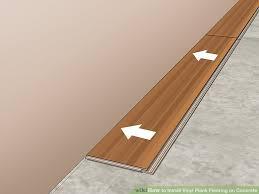 image titled install vinyl plank flooring on concrete step 14