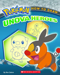 book pokemon how to draw unova heroes by ron zalme