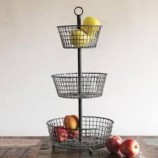 vintage 3 tiers fruit basket
