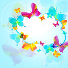 Colorful Background With Butterfly ...