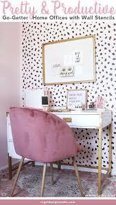 home office makeovers. Pretty \u0026 Productive: Go-Getter Home Office Makeovers With Wall Stencils  From Royal Design Home Office Makeovers .