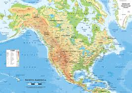 physical map of us and canada physical map 6 save north america physical classroom map wall