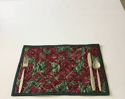 Table protector   Etsy & Christmas Place Mat/Quilted Place Mat/Table Mat/Table Protector Mat/Burgundy Adamdwight.com