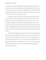 Essay Reference Page Example Format Essay Title Page Title Page