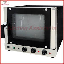 2019 ec01f automatic stainless steel 4 trays hot air convection oven bakery oven with four layers tempered glass door with steam from aistan kitchen