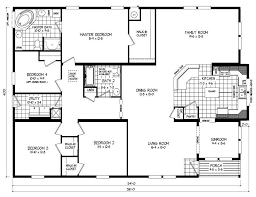 4 bedroom double wide mobile home floor plans beautiful double wide floor plans 4 bedroom manufactured