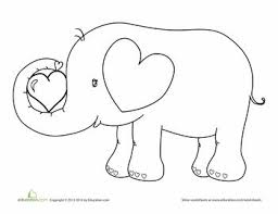 Elephant Coloring Pages For Preschool At Getdrawingscom Free For