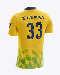 You will find a wide variety of 20+ best jersey mockup psd templates on our website for you to pick the best one for you. Men S Soccer Polo Shirt Mockup Back Half Side View In Apparel Mockups On Yellow Images Object Mockups Shirt Mockup Clothing Mockup Design Mockup Free