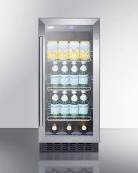 Undercounter Beverage Refrigerator Glass Door Summit Scr1536bg 15 Inch Built In Beverage Center With 245 Cu Ft
