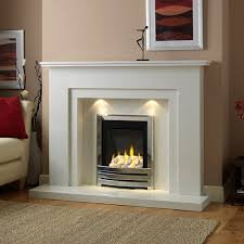 walton marble fireplace in a blanco micro marble shown ith a flavel linear full depth gas