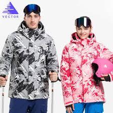 VECTOR <b>Professional Skiing Jackets</b> Waterproof Warm Winter ...