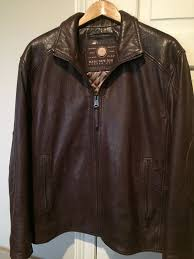 marc new york men s brown leather jacket
