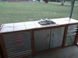 outdoor sink station beautiful best outdoor kitchen sink drain idea bistrodre porch and