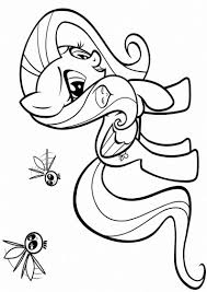 Fluttershy Dress Coloring Pages