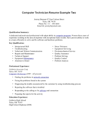 Computer Resume Examples Resume Example And Free Resume Maker