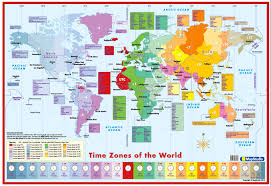 Time Map World Time Zones Wall Map Detailed Wall Map Of The World Time Zones