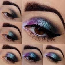 eye makeup steps tutorial poster