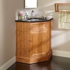 Bamboo Bathroom Cabinets Corner Vanity Cabinet For Your Bathroom Homeideaincom