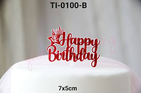Jual Ti 0100 B Topper Tulisan Happy Birthday Bintang Star Cake