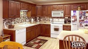 Refacing Oak Kitchen Cabinets From Basic Oak To Elegant Cherry With Renew Cabinet Refacing Youtube