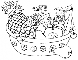 Small Picture Menu Coloring Sheet