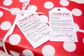 Free Printable Favor Tags Free Printable Santa Gift Tags Party Delights Blog
