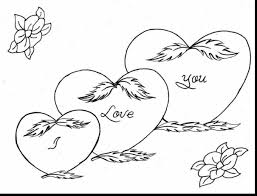 beautiful love you heart coloring pages with i love you coloring ...