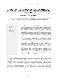 Pdf Test Batteries Assessing Physical Fitness In School