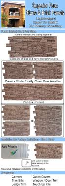 T Superior Building Products Faux Stone Brick Panels Installation Guide