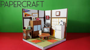 Japanese Living Room Papercraft Japanese Living Room Diorama Youtube