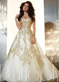 gold white wedding dress wedding ideas
