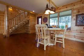 knotty pine paneling dining room