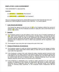 Cash Loan Agreement Sample Adorable Loan Agreement Form Template