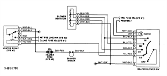 wiring diagram heater blower sw and tail fuse with resistor