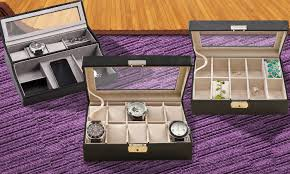 watch case or jewelry box monogram online groupon monogram online 39 99 for a personalized men s watch case or women s jewelry box from monogram