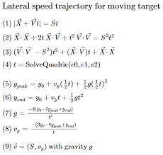 by defining sd on the ground plane it s super easy to solve for a moving target