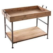 Table basse rectangulaire à 2 niveaux - Style Vintage - BOIS Noir ...
