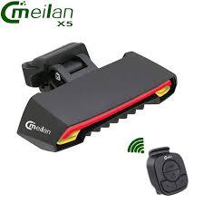 <b>Meilan X5</b> Wireless <b>Bike Bicycle</b> Rear Light laser tail lamp Smart ...