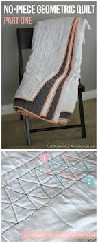 No-Piece Geometric Quilt Tutorial: Part One | Quilt tutorials ... & Geometric Quilt Tutorial. Easy, no-piece quilt. Makes a great first quilt Adamdwight.com