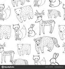 Disegno Degli Animali Reticolo Senza Giunte Dei Bambini Pagina Da